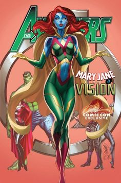 Mary Jane Avengers (The Vision) by J. Scott Campbell