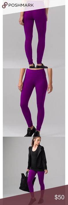 NWT Lululemon Wunder Under Pant III Violet purple Brand new- size 4. Willing to trade for select NWT lululemon lululemon athletica Pants Leggings
