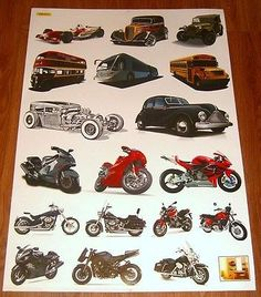 Baby nursery children kid boy car truck #motorbike wall sticker #decal #bedroom,  View more on the LINK: http://www.zeppy.io/product/gb/2/400661431836/