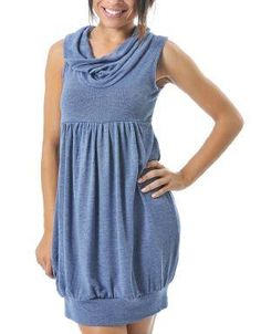 (CLICK IMAGE TWICE FOR DETAILS AND PRICING) Cowl Neck Sleeveless Tunic Blue. Wear this tunic with your leggings or skinny jeans for casual fashion style.. See More Party Dress at http://www.ourgreatshop.com/Party-Dress-C79.aspx