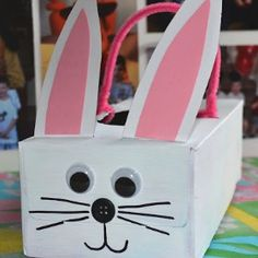 Tissue Box Easter Bunny Baskets | 13 Amazing DIY Crafts and Recipes for Spring - SavvyMom.ca