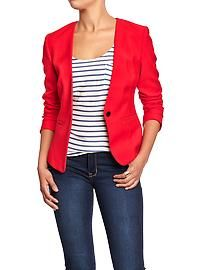 Women's Collarless Blazers