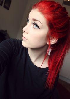 Rojo, cabello, hair