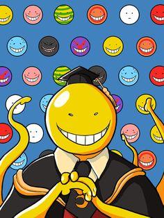 Korosensei Koro sensei Lehrer Lebensart 3 E College Anime Meme, Manga Anime, Fanarts Anime, Anime Art, Vocaloid, Desu Desu, Tsurezure Children, Nagisa Shiota, Kaito Kid