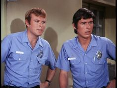 Roy DeSoto (Kevin Tighe) and Johnny Gage (Randolph Mantooth) in Emergency!