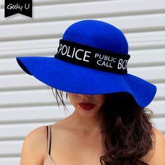 Tardis Police Box Floppy Hat by GeekyU1 on Etsy