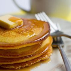 This recipe for cornbread pancakes is gorgeous! They come out crispy on the outside and light and fluffy on the inside.
