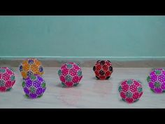 DIY Beaded Soccer Ball    Learn How To Make Colors Soccer Balls For Children/Kids   Diy Crafts Ideas - YouTube