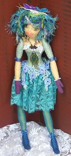 """A fabric doll """"muse"""" for a friend."""
