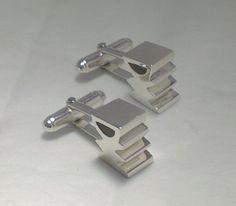Grooms Chunky 3- D 'Initials' Cufflinks