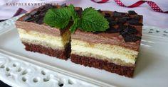 Neskutočne lahodný zákusok s výraznou orechovou a čokoládovou chuťou. Aj keď zákusok vyzerá možno zložito je celkom jednoduchý a je vh... Tiramisu, Tea Time, Cheesecake, Baking, Ethnic Recipes, Sweet, Blackberries, Cakes, Hampers