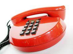 #orange telephone