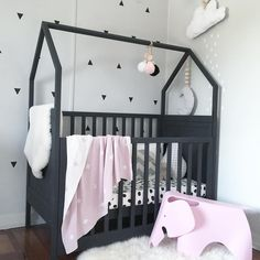 "Frankie Kate on Instagram: ""I've just got Marlowe's cot ready for her first night in her own room  she's just too big for her bassinet now so tonight's the night. I'm sure she'll be perfectly fine...me on the other hand  on a side note Super sized Scandi moons will be in the store at 8pm """