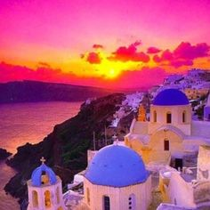 Greece has all the colors of the rainbow in this photo. #travel #inspiration #greece