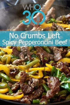 Spicy Pepperoncini Beef from No Crumbs Left Spicy Pepperoncini Beef from No Crumbs Left,Best of Recipes We have another No Crumbs Left recipe sneak peek on the site! Grab the recipe for Spicy Pepperoncini Beef today. Whole 30 Diet, Paleo Whole 30, Whole 30 Recipes, Paleo Dinner, Dinner Recipes, Dinner Healthy, How To Cook Steak, Everyday Food, Hamburgers