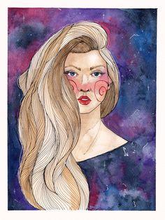 Galaxy Girl - Raquel B. Ilustra