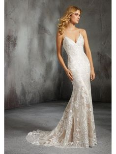 db9526dceb5 MORI LEE Mori Lee 8285 Laura Corset Back Detail Wedding Dress Ivory rose