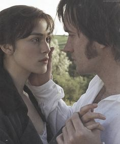 Keira Knightley and Matthew Macfadyen as Elizabeth Bennet and Fitzwilliam Darcy in the 2005 movie adaptation of Jane Austen's Pride and Prejudice