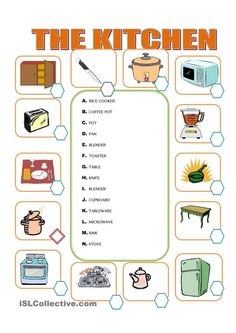 Furniture in the kitchen | english for children | Pinterest ...