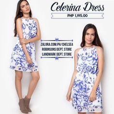 Another piece for the 90's trend! Celerina Dress features a classic 90's halter neckline (perfect with a trendy choker 😉)with a shape-defining elasticized waistline.   #shopping #philippines #zaloraph #fbloggersuk #fbloggers #robinsonsph #landmarkphil #dress