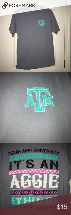Texas A&M comfort colors shirt Medium gray comfort colors shirt. It's an Aggie Thing. Bought at A&M warehouse in CSTAT. Texas A&M Tops