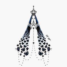 Inspiração e fé! • #desenho #ideia #borboletas #padroeira Catholic Art, Religious Art, Holy Mary, Blessed Virgin Mary, Tumblr Wallpaper, Blessed Mother, Stencil Painting, Quilling, Decorative Bells