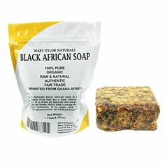 African Black Soap with Organic Shea Butter 1 Lb (16 Oz) Raw Natural Black Soap Handmade From Ghana Africa. Pure Authentic 100% Natural Organic for Acne, Scar Removal, Stretch Marks, Wrinkles Mary Tylor Naturals http://www.amazon.com/dp/B017S6ACP6/ref=cm_sw_r_pi_dp_IboBwb0N26RX5