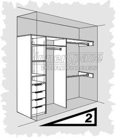 Innerspace wardrobes - design Option 2I actually prefer #3 but couldn't find the image for pinning.