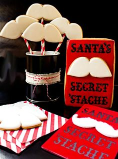 Santa's Secret Stache - how adorable are these?! LOVE them!
