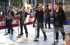 Singers Howie Dorough, Brian Littrell, AJ McLean and Nick Carter of the Backstreet Boys perform on NBC's 'Today' at Rockefeller Center on June 3, 2011 in New York City.