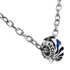 """925 Sterling Silver Murano Style Glass Bead with 19"""" Chain- Dance all Night! (Pandora and Chamilia Compatible) Pacific Beads. $7.95"""