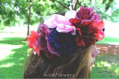 Full Flower Crown by Wildflowers Wildflowers, Flower Crown, Pastels, Girly, Plants, Design, Crown Flower, Women's, Floral Crown
