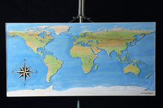 Wood World Map Wall Art Travel Map Gifts for Travelers Map
