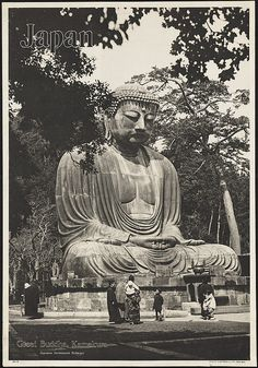 Japan. Great Buddha, Kamakura by Boston Public Library, via Flickr