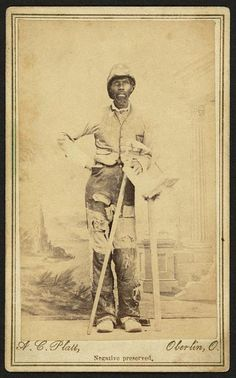 Occupational portrait of an African American brick layer. Creators: Platt, A. C. (Alvord C.), 1828-1884, photographer.   Date Created/Published: [between 1860 and 1870].