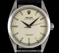 #Rolex Stainless Steel Silver Baton Dial #OysterPerpetual #Vintage #6614 Rolex Oyster Perpetual, Oysters, Stainless Steel, Silver, Vintage, Money