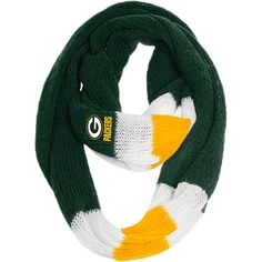 Women's Team Beans Green Bay Packers Infinity Scarf - NFLShop Exclusive! - NFLShop.com