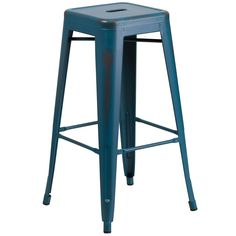 Flash Furniture 30-inch High Backless Distressed Indoor Barstool