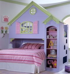 dolls house bunkbed - not actually available anymore but fantastic to see and inspiring fr those who can diy (was $1349)