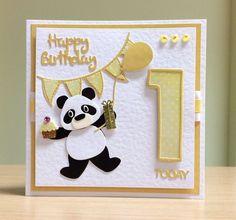 Homemade Anniversary Cards Elegant First Birthday Card Handmade Marianne Panda & tonic Number 16th Birthday Card, Birthday Card Messages, Simple Birthday Cards, Birthday Cards For Friends, Birthday Cards For Boys, Birthday Card Design, Handmade Birthday Cards, Kids Cards, Baby Cards
