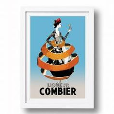 Vintage Style Poster Combier | Signed, Artist's print by Sarah Carter-Jenkins $105 block shop. Buy one get one free ( min spend $150 )