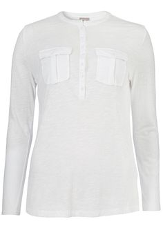Bluse hvid 22728 Shirty T-shirt - 88 white