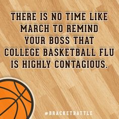 College Basketball Flu Card #bracketbattle