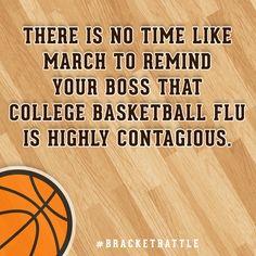 College Basketball Flu Card #bracketbattle