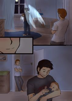 Destiel: My question, why would the baby have wings? Dean and Cas can't reproduce! Thus, Cas would have to impregnate a women. Wouldn't THAT cause drama? ;P Weird.