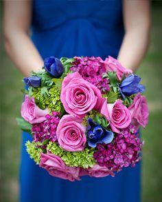 Vibrant Color Palette - Royal blue, fuchsia, and pink / La Petite Fleur
