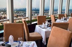 Vista do restaurante giratório da Cidade do México. Foto: Restaurante Bellini divulgação.