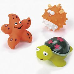 Sea Life Characters :   Great party idea for luau, pool or beach themed party favors or loot bag fillers! Give them out as prizes or gifts.  Vinyl. 5.08-7.62 cm;  per character; various designs