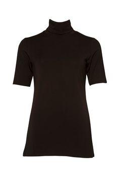 Turtle Neck SS Tee High Neck Dress, Turtle Neck, Tees, Summer, Black, Dresses, Fashion, Turtleneck Dress, Vestidos