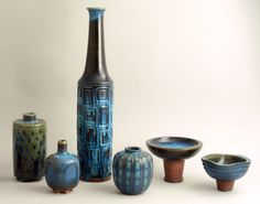 ** Wilhelm Kåge (Swedish, 1889-1960) Gustavsberg Studio, Glaze Decorated Stoneware.
